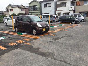 大和川西運動広場に一番近い、阪南大学すぐ近く、シニアコート徳洲会天美裏の時間貸駐車場・タイムパーキング天美北6丁目駐車場の案内5